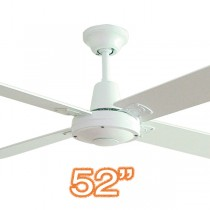 "Typhoon M3 52"" AC Plywood Indoor Ceiling Fan White Hunter Pacific"