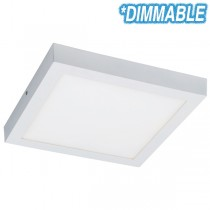 Square LED Oyster Lights Unos 24w Dimmable Ceiling Lighting