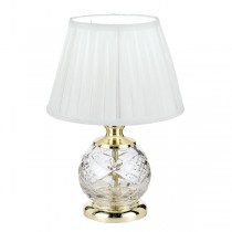 Traditional Vivian Crystal Table Lamps Gold