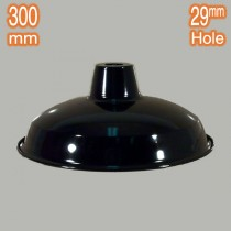 Retro Lamps Shades Warehouse 300mm Metal Black Lights Pendants