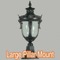Wellington Large Lighting Period Exterior Lamps Pillar Mounted