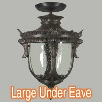 Traditional Outdoor Period Lights Wellington Under Eave Black Lode International