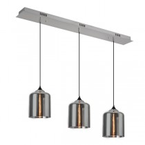 Pendants Lights Zoe 3 Glass Smoke Kitchen Lighting Modern