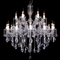 Large Crystal Chandelier Lighting Zurich 18 Lights Classical Hotel Foyer Pendants