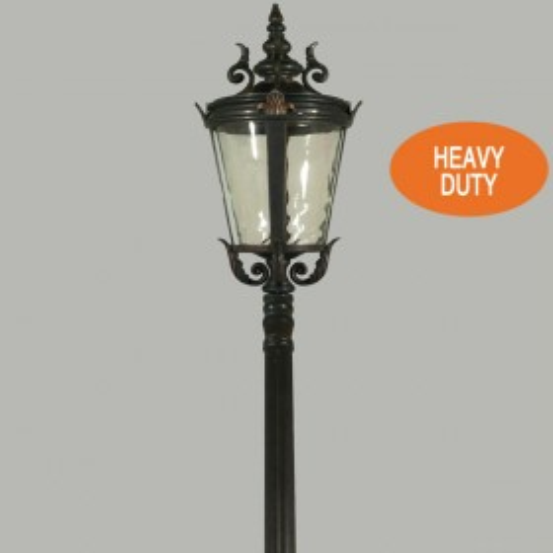 Albany 1Light Medium Top Domain Outdoor Post Light - Antique Bronze