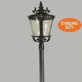 Albany 1Light Medium Top Standard Outdoor Post Light - Antique Bronze