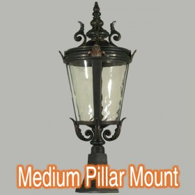 Albany Medium Outdoor Pillar Mount Light - Antique Bronze