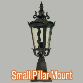 Albany Small Outdoor Pillar Mount Light - Antique Bronze