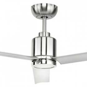 "Aluma 52"" with LED Light DC Metal 3Blade Ceiling Fan - Satin Nickel"