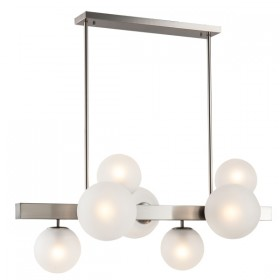 Aston 7Light Horizontal Pendant - Nickel