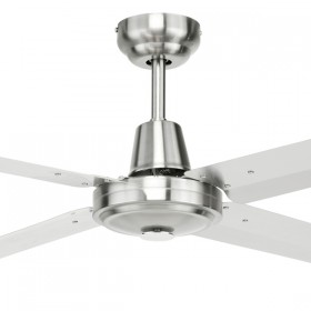 "Atrium 48"" AC Metal 4Blade Ceiling Fan - 316 Stainless Steel"