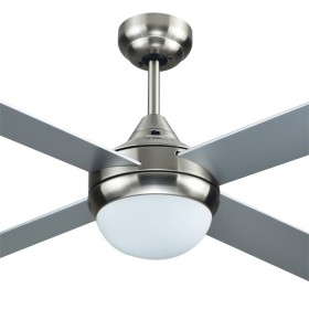 """Azure 48"""" with E27 Light AC Timber 4Blade Ceiling Fan - Brushed Nickel"""