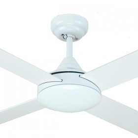 "Azure 48"" AC Timber 4Blade Ceiling Fan - White"