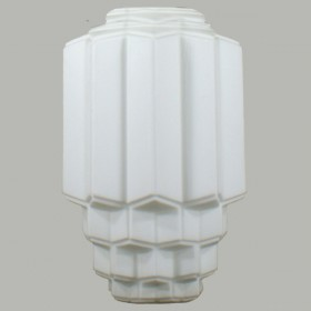 Bergerac Large Glass Shade - Opal Matt