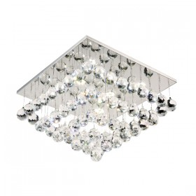 Bliss 40 LED Crystal CTC (Close-to-Ceiling) Light - Square