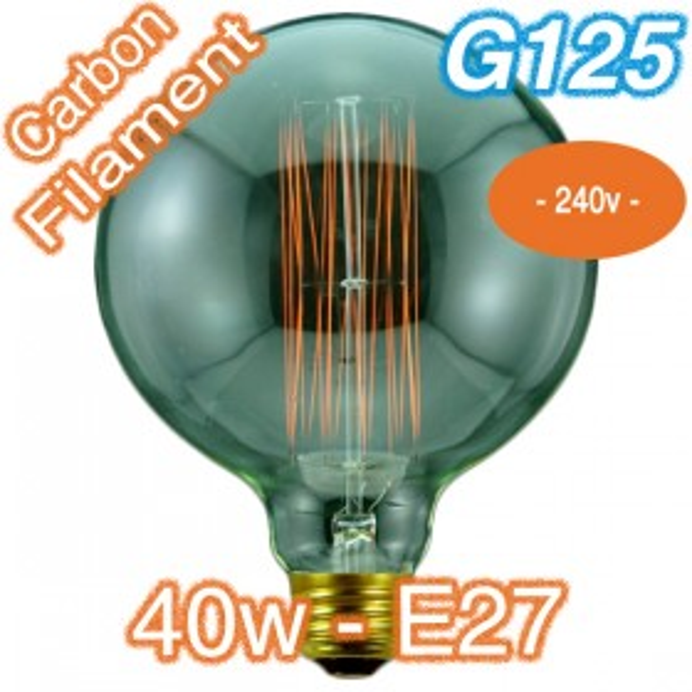 G125 Carbon Filament 40w E27 - 240v Globe
