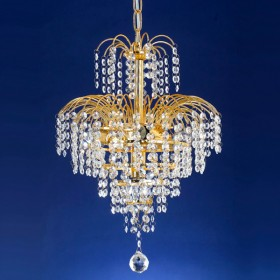 Cascade33 Chandelier Light - Gold