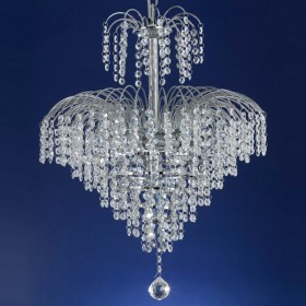 Cascade43 Chandelier Light - Chrome