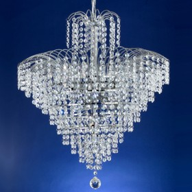 Cascade53 Chandelier Light - Chrome