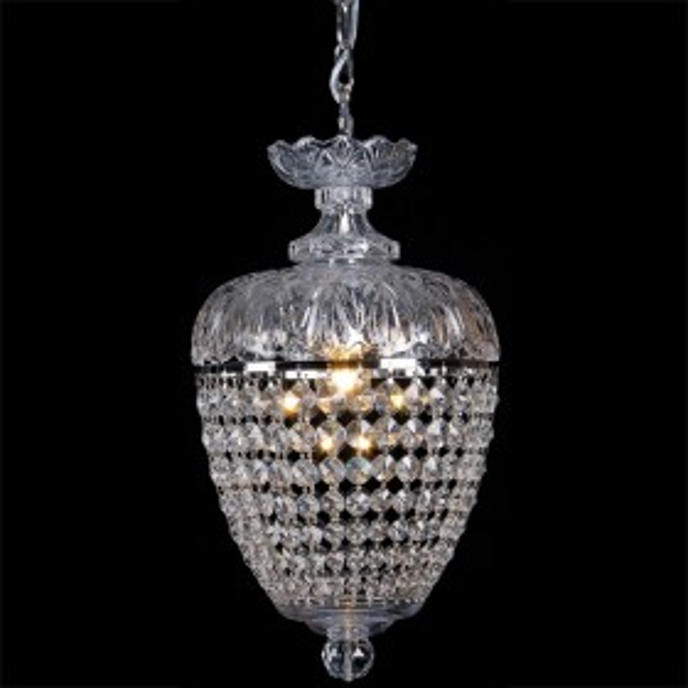 Chopin 1Light Crystal Basket