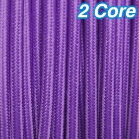 Purple Cloth Cord Cable - 2 Core 240v