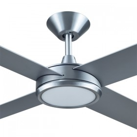 "Concept3 52"" with Dimming LED AC Polymer 4Blade Ceiling Fan - Brushed Aluminium"