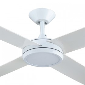 "Concept3 52"" with Dimming LED AC Polymer 4Blade Ceiling Fan - White"