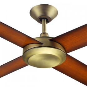 "Concept3 52"" AC Polymer 4Blade Ceiling Fan - Antique Brass"