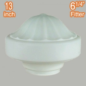 "Derby 13"" Glass Shade - Opal Matt"