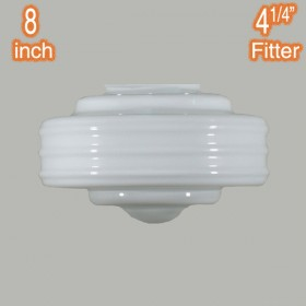 Detroit Small Glass Shade - Opal Gloss