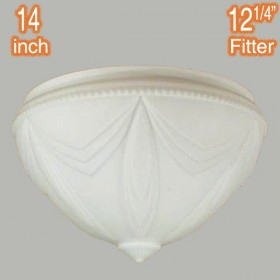 "Empire 14"" Glass Shade - Opal Matt"