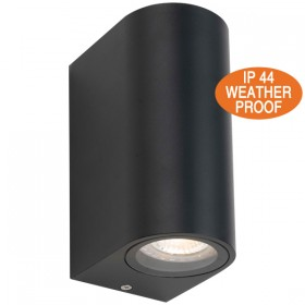 Eos 2Light Outdoor Wall Lamp - Black