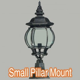 Flinders Small Outdoor Pillar Mount Light - Antique Black