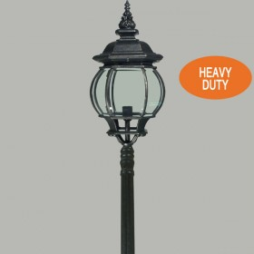 Flinders 1Light Large Top Domain Outdoor Post Light - Antique Black