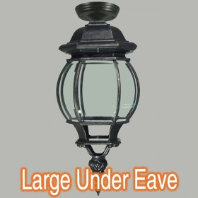 Flinders Large Outdoor Under Eave Light - Antique Black