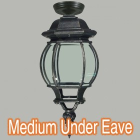 Flinders Medium Outdoor Under Eave Light - Antique Black