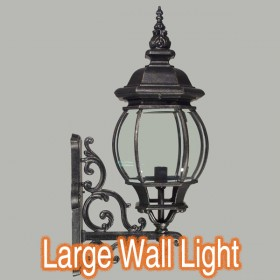 Flinders Large Outdoor Wall Light - Antique Black
