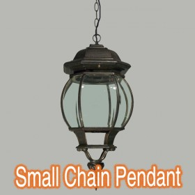Flinders Small Chain Pendant Light - Antique Bronze