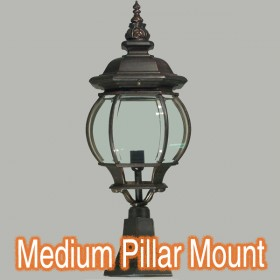 Flinders Medium Outdoor Pillar Mount Light - Antique Bronze
