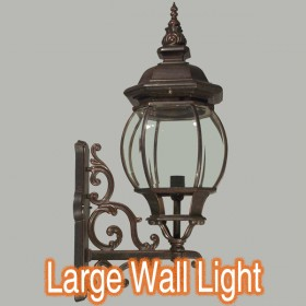 Flinders Large Outdoor Wall Light - Antique Bronze