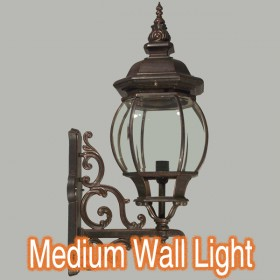 Flinders Medium Outdoor Wall Light - Antique Bronze