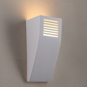Flute Plaster Wall Sconce Light