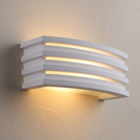 Grate Plaster Wall Sconce Light