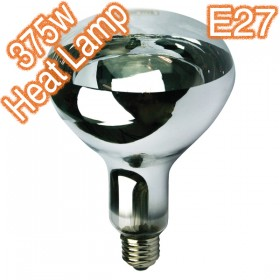 375w E27 Infra Red Heat Lamp - 240v Globe