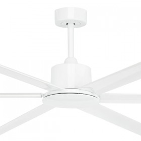 "Hercules 84"" DC Metal 6Blade Ceiling Fan - White"