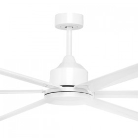 "Hercules 96"" DC Metal 6Blade Ceiling Fan - White"
