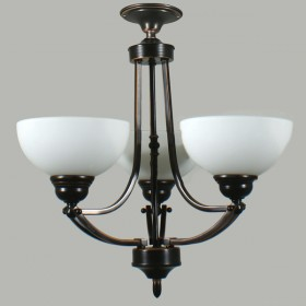 Houston 3Light Flush CTC Ceiling Light - Bronze