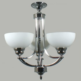 Houston 3Light Flush CTC Ceiling Light - Chrome