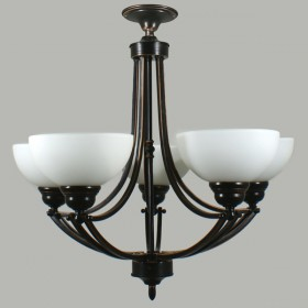 Houston 5Light Flush CTC Ceiling Light - Bronze