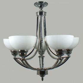 Houston 5Light Flush CTC Ceiling Light - Chrome